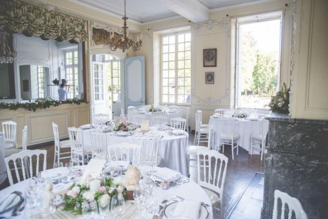 Plan de table au château du Taillis