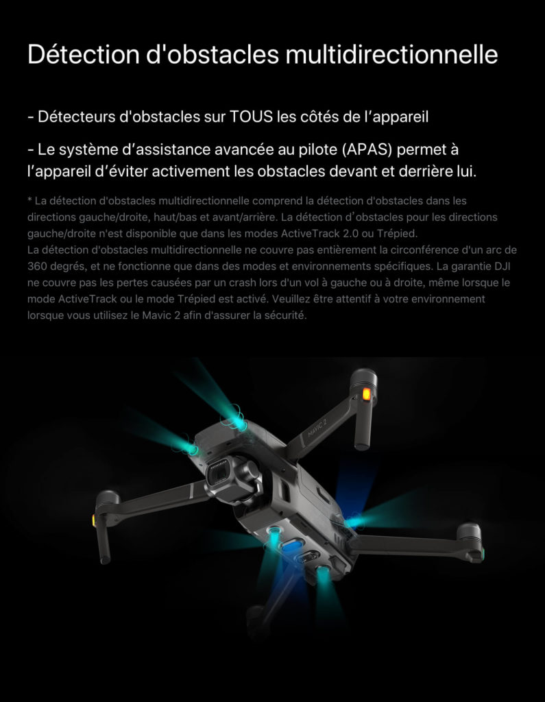 Mavic 2 Pro - détection d'obstacles