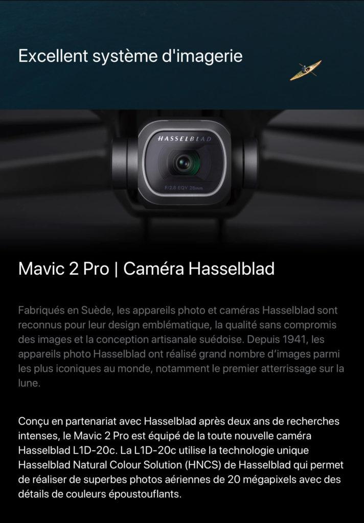 Mavic 2 Pro - caméra Hasselblad