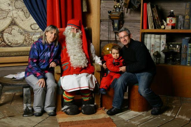 Rovaniemi - photo avec le Père Noël