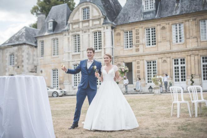 Mariage au château du taillis à Duclair - cocktail